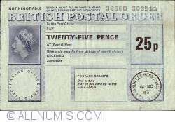 Imaginea #1 a 25 Pence 1983 (4. XI.)