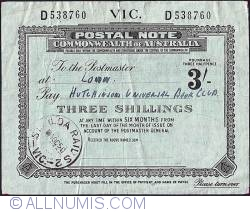Image #1 of 3 Shillings 1950 (4th. of October).