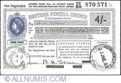 Image #1 of 4 Shillings 1962 (29th. of June)