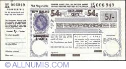 Image #1 of 54 Cents on 5 Shillings 1969 (28th. of October).